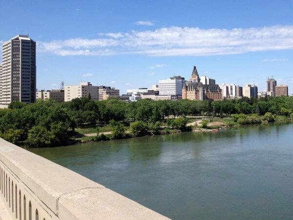 South Saskatchewan riverfront, Saskatoon, Saskatchewan, Canada