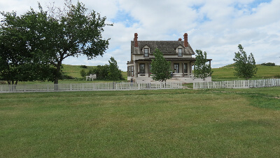 Custer's and his wife Lucy's house at Ft. Abraham Lincoln