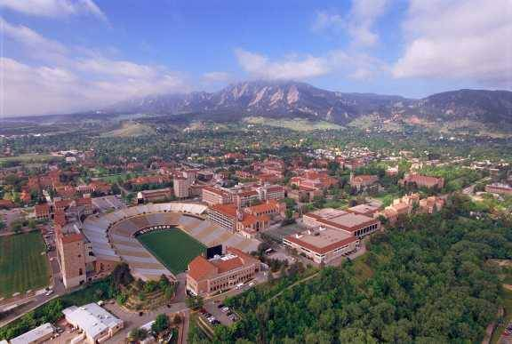 Boulder often tops the list as #1 college town, thanks to University of Colorado is one of the top