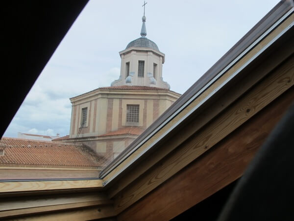 View from the skylight