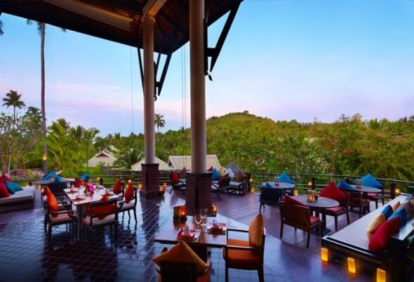 Thai French fusion cuisine at the Kan Sak Thong Restaurant, Melati Beach resort & Spa