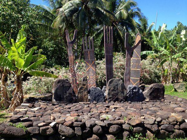 Archeological site, Maitai Lapita Village, Huahine, French Polynesia