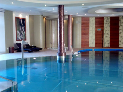 The pool at the palace spa