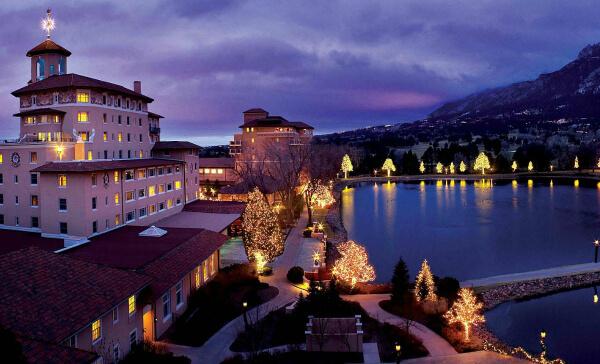 Broadmoor Hotel twinkling lights