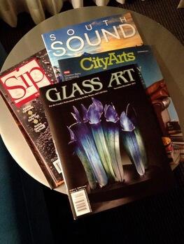 Magazines, Hotel Murano, Tacoma, Washington