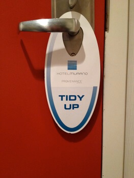 Tidy up, Hotel Murano, Tacoma, Washington