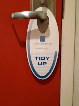 Tidy up, Hotel Murano, Tacoma, Washington