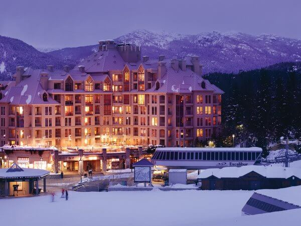 Pan Pacific Whistler Mountainside, slopeside hotel in Whistler, British Columbia Canada