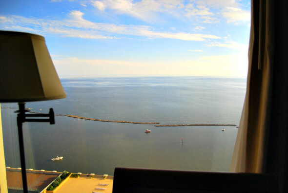 View of the Mississippi Gulf from our Beau RIvage Room