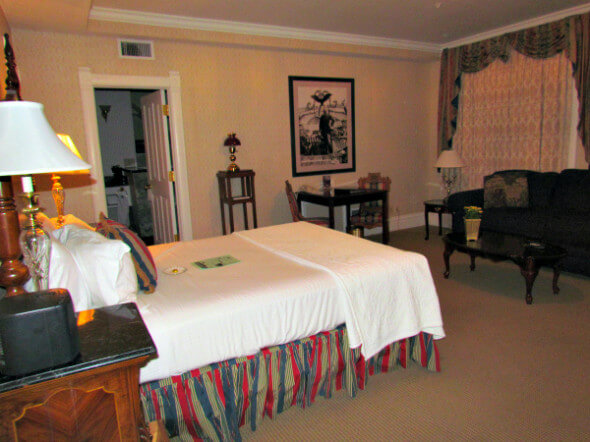 My luxurious Junior Suite accommodations, Cliff House at Pikes Peak, Manitou Springs, Colorado