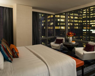 View of Times Square from Room 3206 Courtyard Marriott New York City Manhattan Central Park