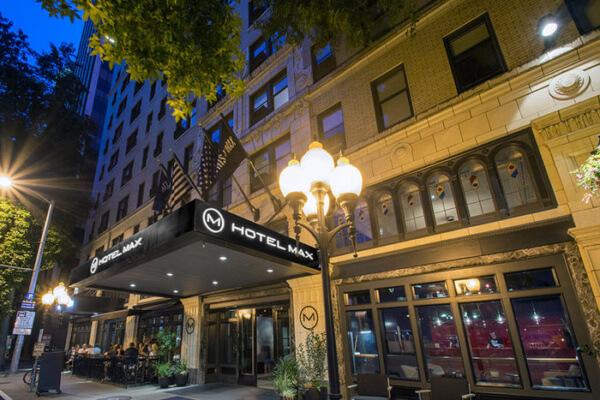 Exterior, Hotel Max, Seattle, WA