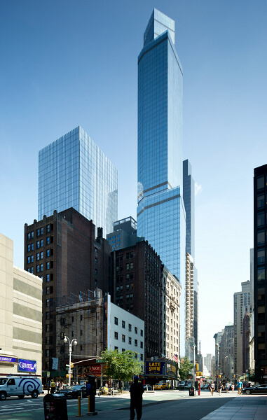 Stretching to 68 floors into the New York City skyline, the Courtyard by Marriott and Residence Inn New York is the tallest single-use hotel in North America