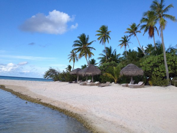 Beach, Ninamu Resort, Tikehau, French Polynesia