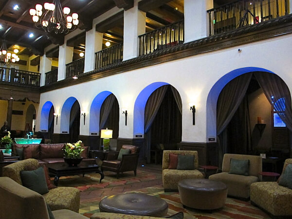 The lobby at Hotel Andaluz in Albuquerque, New Mexico