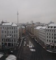 View of Rosenthaler Platz from Ibis Styles Hotel