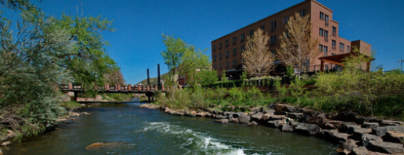 Located next to Clear Creek, the Golden Hotel is an escape to the foothills of Denver.