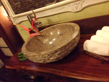 Bathroom, Green Lodge, Moorea, French Polynesia