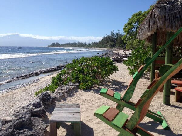 Beach, Green Lodge, Moorea, French Polynesia