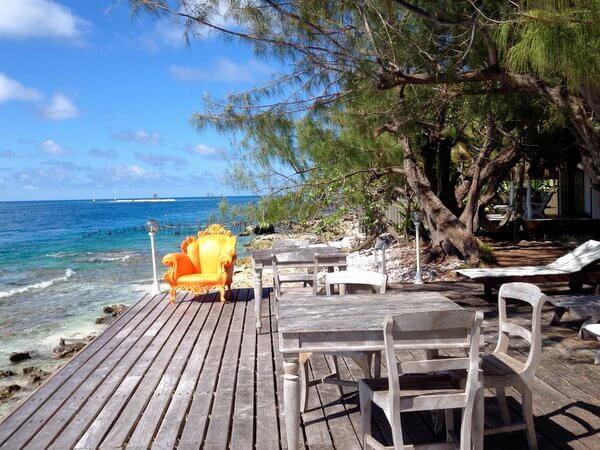 Waterfront deck, Les Relais de Josephine, Rangiroa, French Polynesia