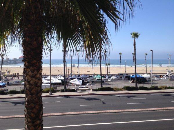Beach view, Shorebreak Hotel, Hungtington Beach, California