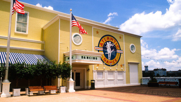 The Atlantic Dance Hall, one of many options along the 1/4 mile promenade, the focal point of the BoardWalk Inn