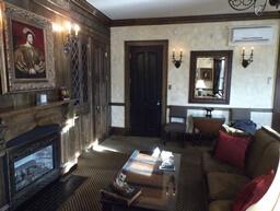 English Tudor room at Chanler Hotel in Newport, RI