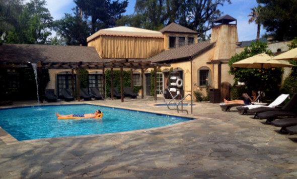 The pool at the Kenwood Inn and Spa