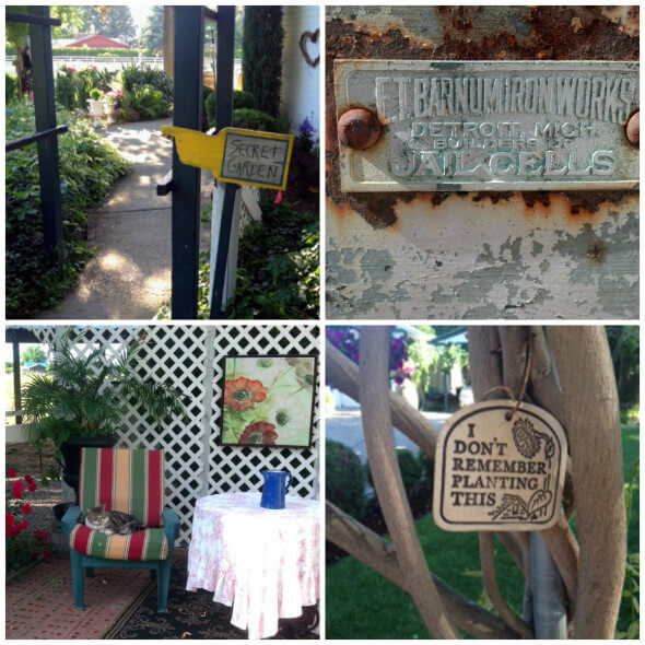 The Cory Rose's gardens and the historic jail