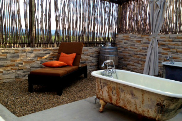 The outdoor tubs
