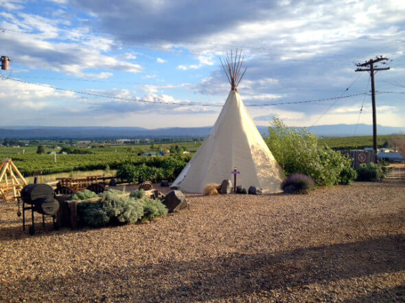Teepee accommodation