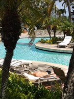 Relaxing at the pool at the Ritz-Carlton Kapalua