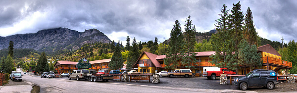 Less than a block from Ouray's Main Street (Highway 550) is the Box Canyon Lodge & Hot Springs