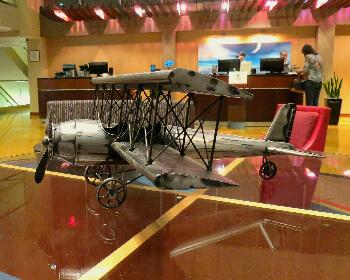 A nod to Ohio's aviation history in the lobby