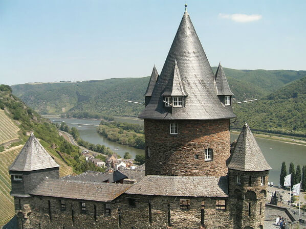 Stahleck Castle overlooking the Rhine