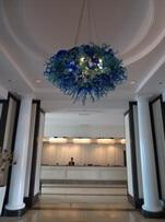 The lobby inside Sofitel San Francisco Bay