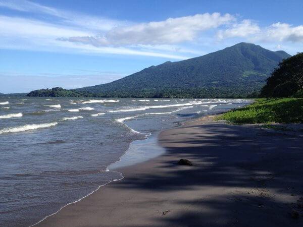 Black-sand beach, Xalli Hotel, Ometepe Island, Nicaragua