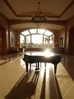 In the lobby of Park Hyatt Aviara