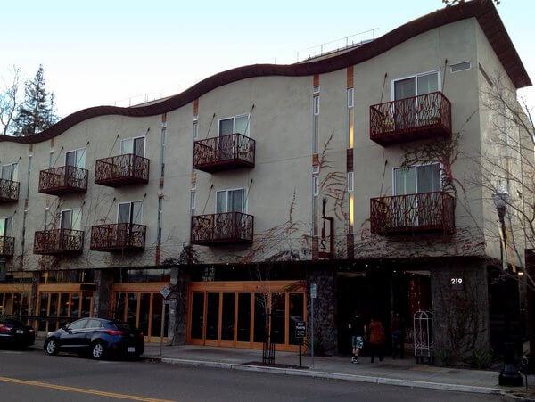 H2 Hotel exterior, Healdsburg, California