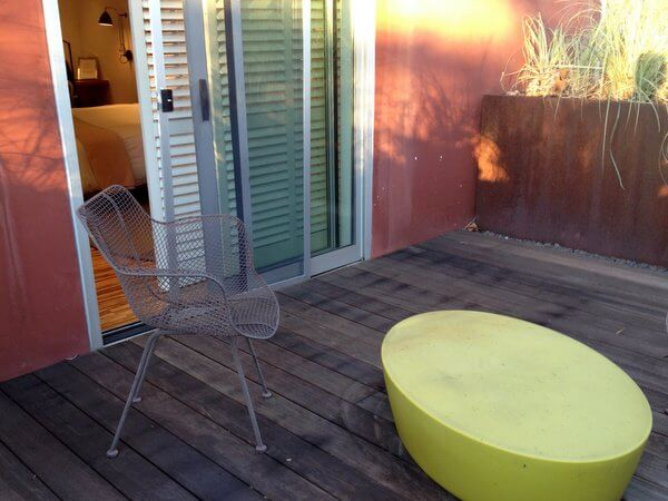 H2 Hotel terrace, Healdsburg, California