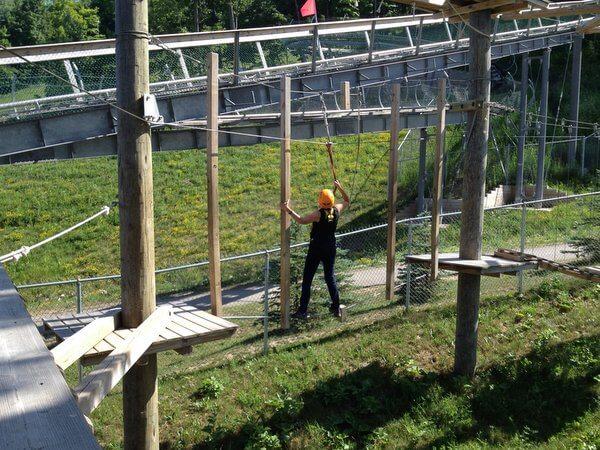 Low ropes course, Blue Mountain, Ontario