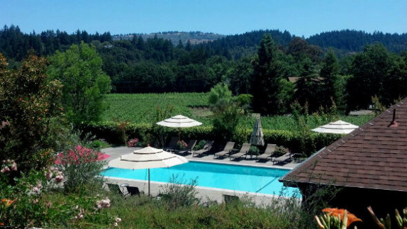 The pool at the Wine Country Inn