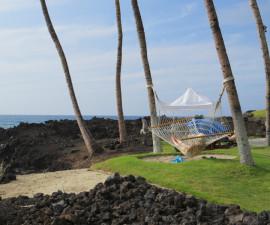 Ocean front hammock at Hilton Waikoloa Village