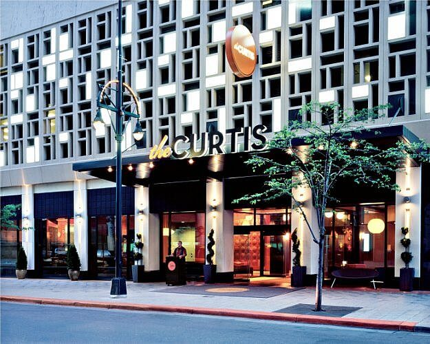 Exterior of The Curtis Hotel in the Theater District of Downtown Denver