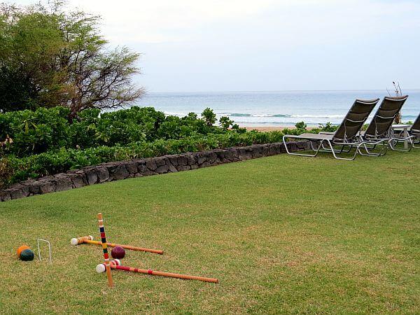 Outside games at Hapuna Beach Prince Hotel