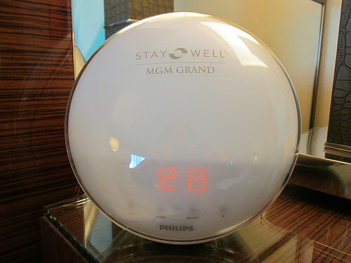 dawn simulation, Stay Well room, MGM Grand