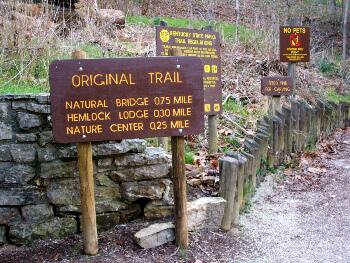 natural bridge trails