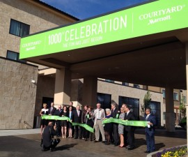 Courtyard Walla Walla ribbon cutting