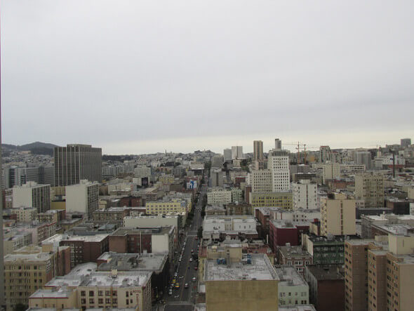 San Francisco skyline room, Hilton hotel