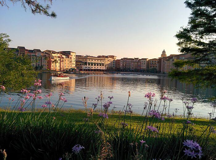 View across water Loews Portofino Bay Hotel